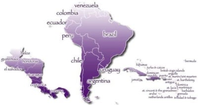 Latin and South America
