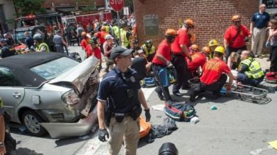 "alt=""Police declare state of emergency in Charlottesville, Virginia, ahead of large white nationalist rally"""