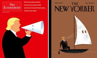 "alt=""New Yorker & Economist covers slam Trump's defence of white supremacists"""