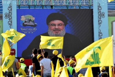 "alt=""Hezbollah leader says he met Assad in Syria over Islamic State evacuation"""