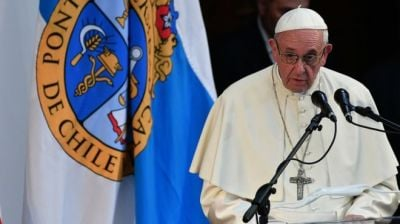 "alt=""Pope Francis 'slander' comment angers Chile abuse victims"""