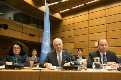 "alt=""U.N. has yet to decide whether to attend Russian talks on Syria: Mistura"""