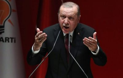 "alt=""Erdogan Vows to Clear Kurdish Forces From Length of Syria Border"""