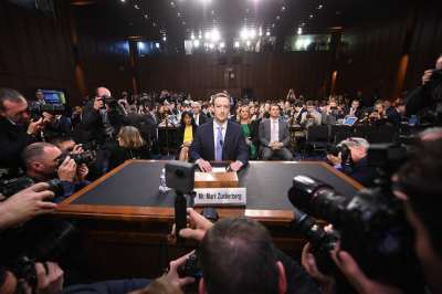 "alt=""Zuckerberg vows to fight election meddling in marathon Senate grilling"""