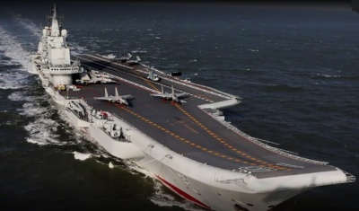 "alt=""China's first home-built carrier starts sea trials"""