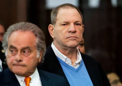 "alt=""Harvey Weinstein charged with rape following New York arrest"""