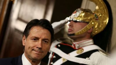 "alt=""Italy PM-designate Conte gives up bid for government"""
