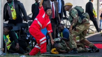 "alt=""Zimbabwe Bulawayo blast: Two die after attack on Mnangagwa"""