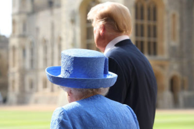 "alt=""Trump 'snubbed' by UK royal family"""