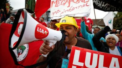 "alt=""Lula: Brazil's jailed ex-leader barred from presidential race by electoral court"""