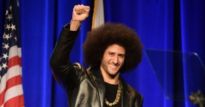 "alt=""Colin Kaepernick featured in Nike's 30th anniversary 'Just Do It' campaign"""