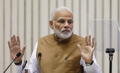 "alt=""India's Modi launches health insurance for 100M families ahead of elections"""