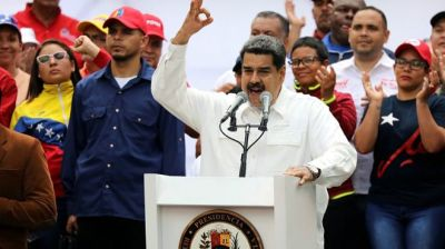 "alt=""Venezuela's Maduro thanks military for defeating 'coup'"""