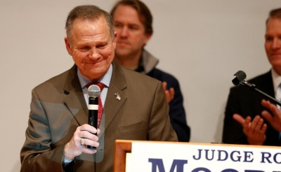 "alt=""Alabama's Roy Moore, undone by allegations, considers new Senate run"""