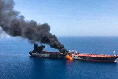 "alt=""Gulf of Oman tanker attacks: Iran calls US accusation 'unfounded'"""